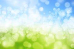 Gräsplan och blått Royaltyfri Bild