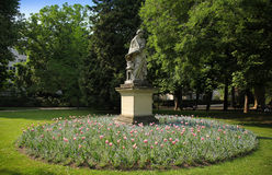 Gräsplan parkerar - Jardin du Luxembourg, Paris, Frankrike. Arkivfoto