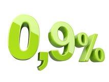 Gräsplan 0 9 procent glansigt tecken royaltyfri illustrationer