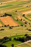 Gräsplan sätter in flyg- sikt för skörd arkivbild