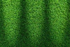 Grästexturbakgrund för golfbana, fotbollfält eller sportbegreppsdesign Konstgjort grönt gräs royaltyfria foton