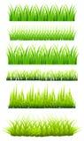 Gräsuppsättning vektor illustrationer