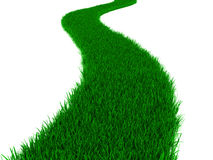 Gräsväg royaltyfri illustrationer