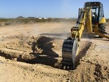 gräva jätte- horisontalskyffelånga Arkivbild