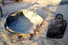 gräva skyffel Fotografering för Bildbyråer