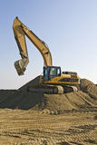 grävarejordarbete Arkivbilder