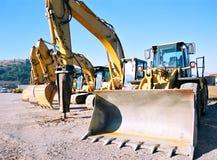 grävareparkering Royaltyfri Fotografi