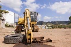 Grävskopa Industrial Earthworks Royaltyfri Bild