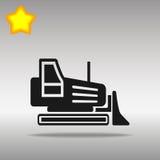 Grävskopabulldozer, väghyvelillustration Vektor Illustrationer