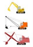 Grävskopauppsättning. stock illustrationer