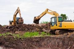 grävskopor Royaltyfria Foton