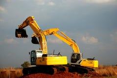 grävskopor Fotografering för Bildbyråer