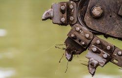 Grävt industriellt blad Arkivfoto