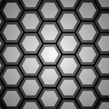 Grå bakgrund för abstrakt hexogonal för design Royaltyfri Bild