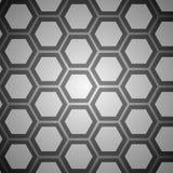 Grå bakgrund för abstrakt hexogonal för design Royaltyfria Bilder