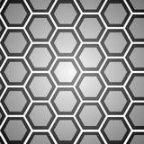 Grå bakgrund för abstrakt hexogonal för design Arkivbild