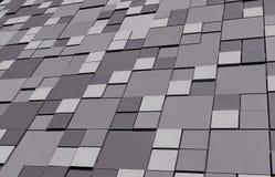 Grå bakgrund för abstrakt vitsvart med fyrkanter Royaltyfria Foton