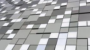 Grå bakgrund för abstrakt vitsvart med fyrkanter Arkivbilder