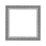 Grå bildram som isoleras på vit bakgrund Fotografering för Bildbyråer