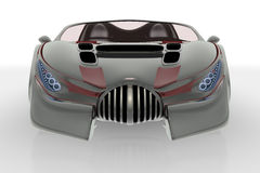 Grå bilframdel Royaltyfri Fotografi