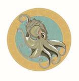 grå bläckfisk Royaltyfri Bild