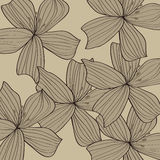 Grå blommamodellbakgrund Fotografering för Bildbyråer