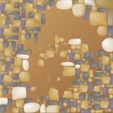 Grå färg-brunt bakgrund av färgrika stenar Royaltyfria Bilder