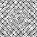 Grå färgabstrakt begrepp som upprepar design för bakgrund för diagonalfyrkantmodell Royaltyfria Bilder