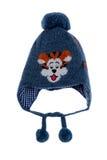 Grå färger behandla som ett barn hatten med modellen tystar ned Royaltyfri Bild