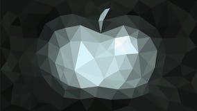 Grå färger för äpple för trianguleringbakgrundsabstrakt begrepp Royaltyfri Bild