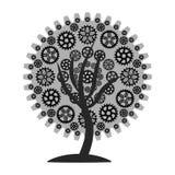 Grå färger för kugghjulträd 1 Arkivfoton