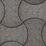 Grå färger med hasade figurerade förberedande tjock skiva Arkivfoto