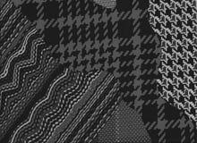 Grå färger och vit för tygpusselbakgrund Arkivfoton