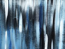 Grå färger svart blå randig lantgårdbakgrundshand som målas med den mjuka borsten på ett tonat papper fotografering för bildbyråer