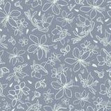 Grå färgmodell med den vita liljan royaltyfri illustrationer