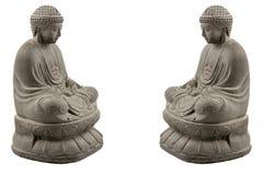 Grå färgsten buddha royaltyfri bild