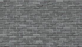 Grå färgtegelstenvägg stock illustrationer