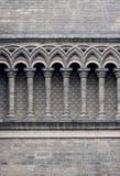 Grå färgtegelstenvägg Royaltyfria Bilder