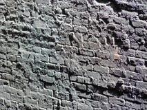 Grå färgtegelstenvägg Arkivfoto