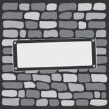 Grå färgtegelstenvägg också vektor för coreldrawillustration royaltyfri illustrationer