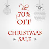 Grå försäljningsmall för jul Royaltyfri Illustrationer