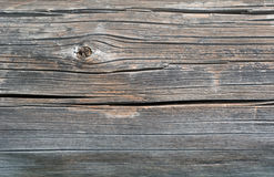 Grå gammal sågad wood journal, bakgrund Arkivfoto