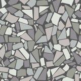 Grå garnering för vägg för keramiska tegelplattor för tappning vektor illustrationer