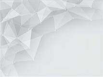 Grå geometrisk abstrakt bakgrund med utrymme Royaltyfri Foto