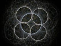 Grå glödande abstrakt fractal Arkivbilder