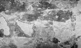 Grå grungetextur av sprucken målarfärg, bakgrund Royaltyfri Fotografi