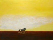 grå häst stock illustrationer