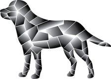 Grå hunddesign olika element vektor illustrationer