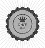 Grå idérik klistermärke Arkivbild
