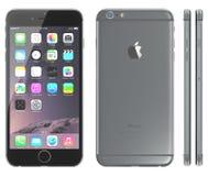 Grå iPhone 6 för utrymme Fotografering för Bildbyråer